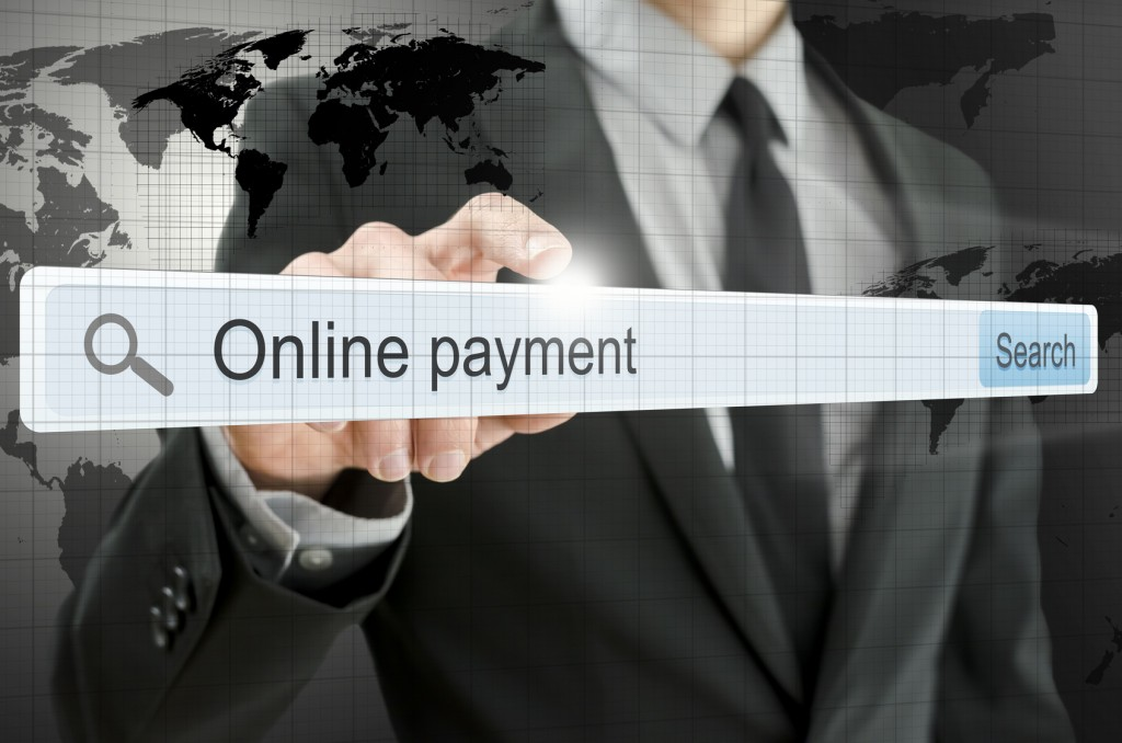 Online payment written in search bar