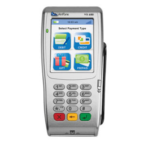 VX680 verifone colored terminal touch